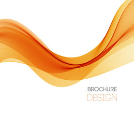 Abstract vector background with orange smooth color wave.