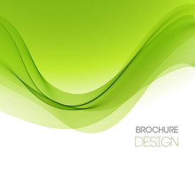 Abstract vector background with smooth color wave