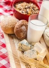 Dairy Products with Cereals and Bread