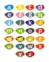abstract liquid alphabet