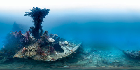 Underwater wreck in Indonesia