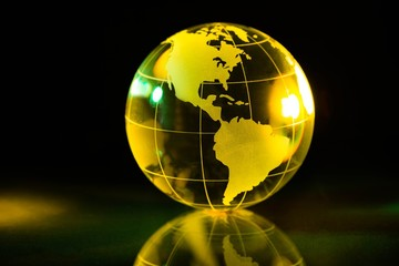 Glass Yellow Globe