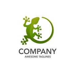 Lizard vector illustration logo template icon design, creative gecko logo vector