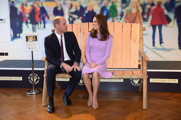 Britain's Prince William and Catherine, the Duchess of Cambridge,  attend the first Global Ministerial Mental Health Summit in London