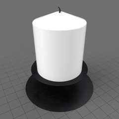 Small candle with holder