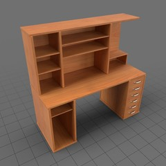 Wooden computer desk 3