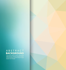 Abstract Background - Polygonal and blurred banner design