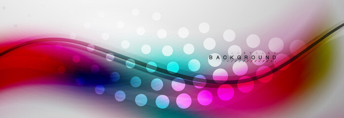 Smooth flowing wave motion concept background