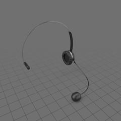 Headset upright