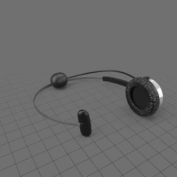 Headset lying flat