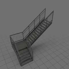 L-shaped industrial staircase 2