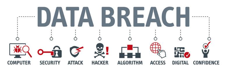 Banner brech data vector illustration concept