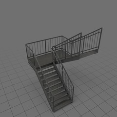 L-shaped industrial staircase 1