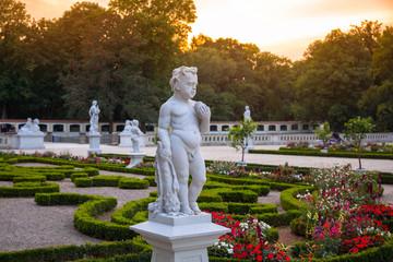Beautiful gardens of the Branicki Palace in Bialystok, Poland