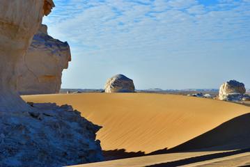 Fototapete - White Desert in Sahara, Egypt