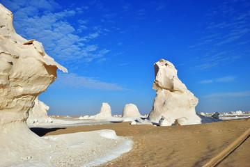 The limestone formation in White desert Sahara Egypt