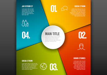 Colorful 4 Section Infographic Layout