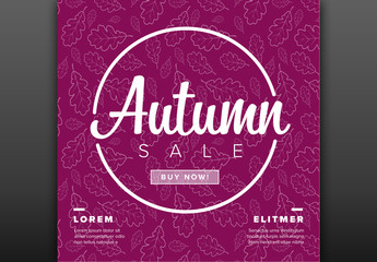 Autumn Sale Social Media Post Layout