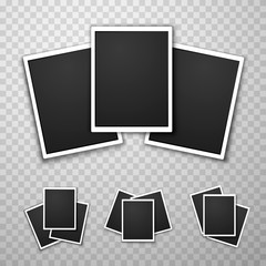 Foto frame collage set collection on the transparent background. Vector illustration