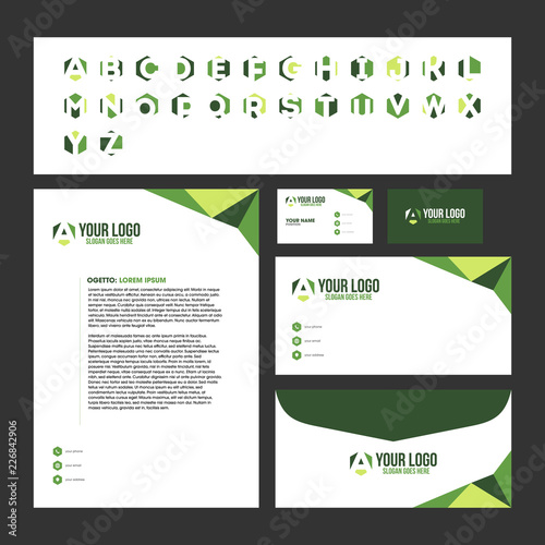 Corporate stationary template design with logo inside business card corporate stationary template design with logo inside business card letterhead envelope wajeb Choice Image