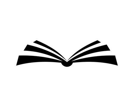 Education Open Book Sign Symbol Icon Logo Vector