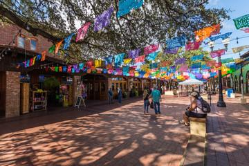 Historic Market Square Mexican Shopping Center tourist destination in San Antonio Texas