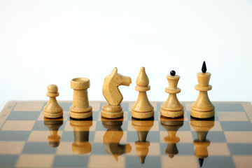 Chess on white background.