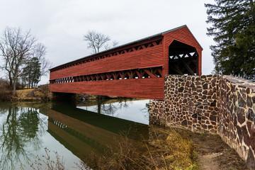 Sachs Covered Bridge in Gettysburg, Pennsylvania on a Moody Day