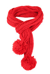 Red scarf isolated.