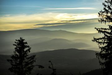 Fototapeta Karkonosze Mountains in Poland, mountain landscape. obraz
