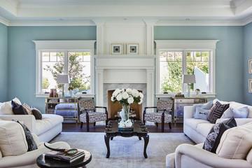 contemporary interior of living room