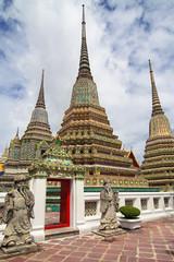Chedis of the Four Kings at Wat Pho in Bangkok