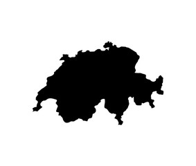 map of Switzerland. vector illustration