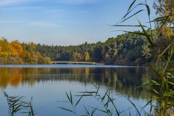 Jezioro Długie most - Olsztyn