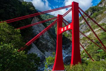 Bridge at he Changchun Trail at Taroko Gorge National Park in Taiwan