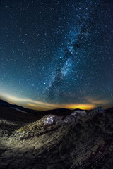 The Milky Way galaxy seen from the Muddy Volcanoes in Romania on a clear night