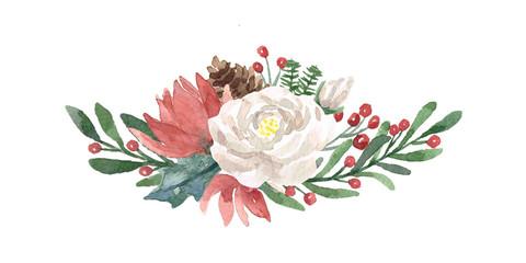 Winter Watercolor Bouquet