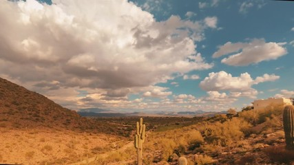 Wall Mural - Desert Timelapse Fountain Hills, Arizona,USA 4K