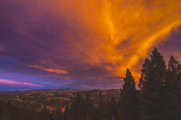 Sunset over Evergreen, Colorado