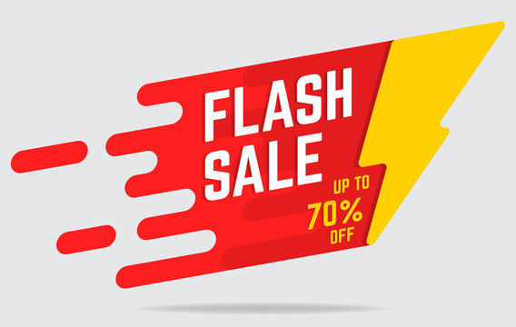 flat flash sale banner