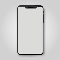 Black mobile smart phone mock up. Game design, smartphone mobile application presentation or portfolio mockups. Vector illustration