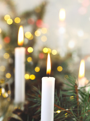 Christmas candles in atmospheric light