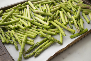 Asparagus on a Sheet Pan