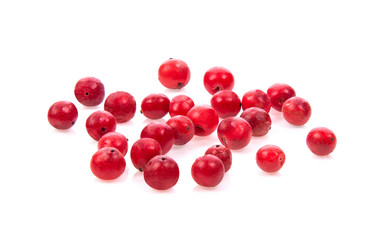 Wall Murals Spices pink peppercorn on white background