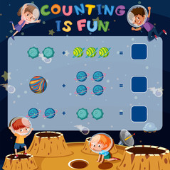 Math counting fun game