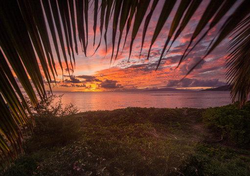 Sunset on Maui at the Beach