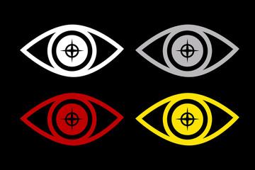 目、瞳、監視、サイバーセキュリティ、個人情報、プライバシー保護イメージグラフィック素材