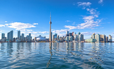 Skyline of Toronto with CN tower Ontario Canada