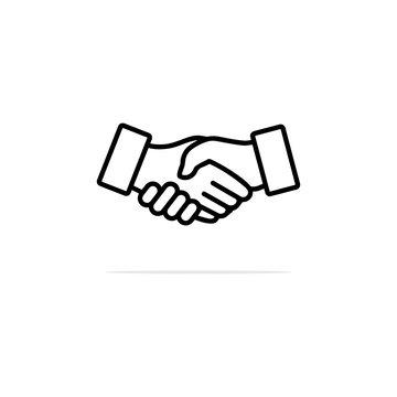 Shake hands icon. Vector concept illustration for design.