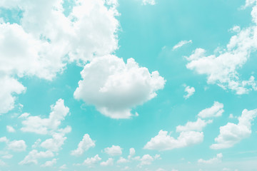Cloud on blue sky background - Vintage effect style picture